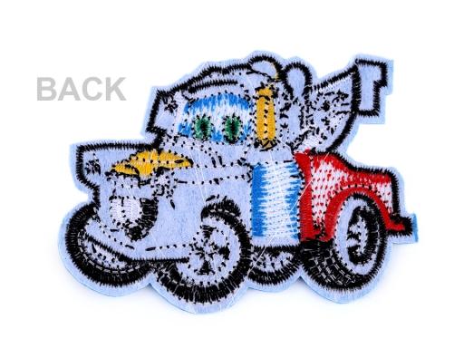 Nažehlovačka auto oranžová 1ks