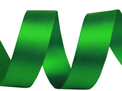 Atlasová stuha obojlíca šírka 24mm Classic Green 20m