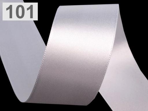 Atlasová stuha obojlíca šírka 40 mm White 200m
