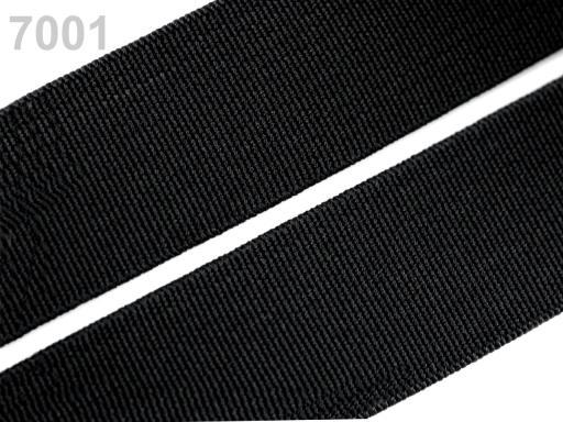 Guma hladká šírka 30mm ČESKÝ VÝROBOK Black 25m