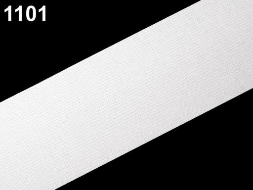 Guma hladká šírka 50 mm tkaná čierna čierna 25m