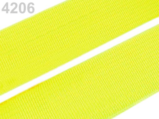 Guma hladká šírka 20mm tkaná farebná ČESKÝ VÝROBOK Sulphur Spring 25m