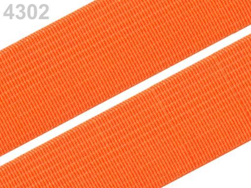 Guma hladká šírka 20mm tkaná farebná ČESKÝ VÝROBOK Autumm Glory 25m