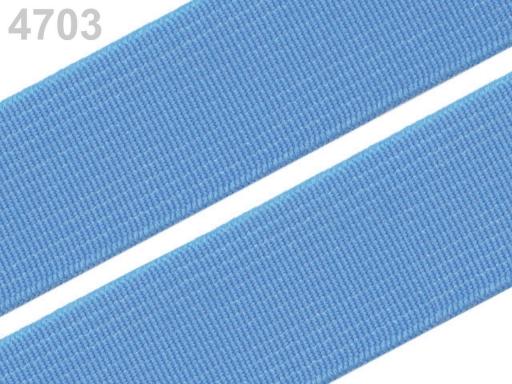 Guma hladká šírka 20mm tkaná farebná ČESKÝ VÝROBOK Little Boy Blue 25m