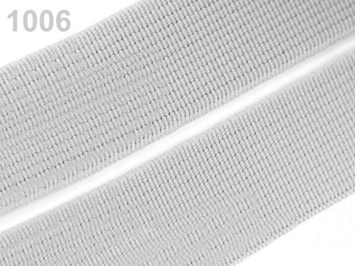 Guma hladká šírka 20mm tkaná farebná ČESKÝ VÝROBOK Agate Gray 25m