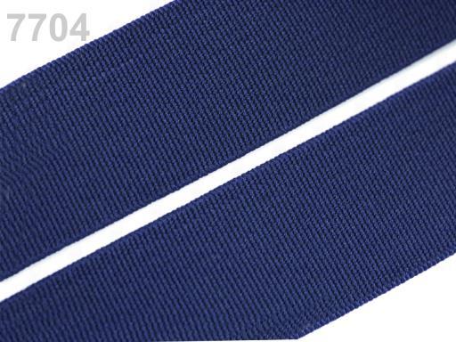 Guma hladká šírka 20mm tkaná farebná ČESKÝ VÝROBOK Estate Blue 25m