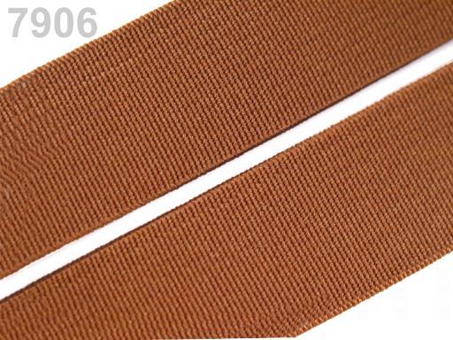 Guma hladká šírka 20mm tkaná farebná ČESKÝ VÝROBOK Copper 25m