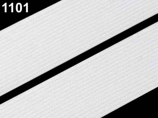 Guma hladká šírka 20mm tkaná farebná ČESKÝ VÝROBOK Jasmine Green 75m