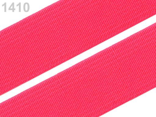 Guma hladká šírka 20mm tkaná farebná ČESKÝ VÝROBOK Fuchsia Purple 25m