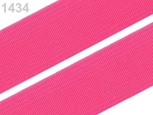 Guma hladká šírka 20mm tkaná farebná ČESKÝ VÝROBOK Sachet Pink 25m