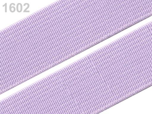 Guma hladká šírka 20mm tkaná farebná ČESKÝ VÝROBOK Lupine 25m