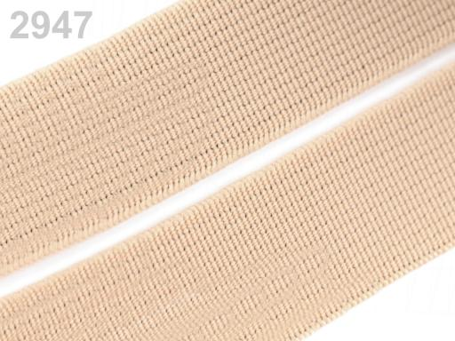 Guma hladká šírka 20mm tkaná farebná ČESKÝ VÝROBOK Summer Melon 75m
