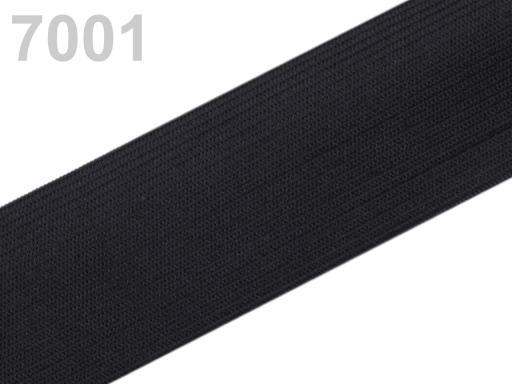 Guma hladká šírka 40mm tkaná ČESKÝ VÝROBOK Black 100m