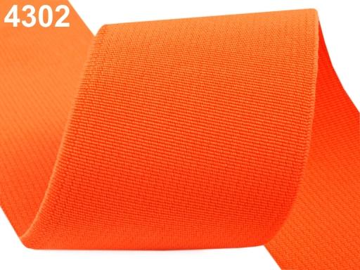 Guma hľadká šírka 50mm tkaná farebná ČESKÝ VÝROBOK Summer Melon 75m