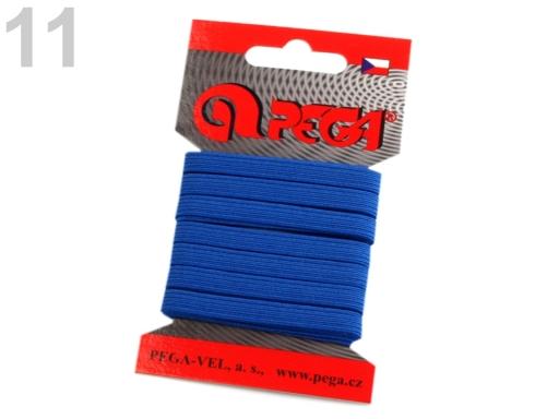 Guma na bielizeň na kartičke šírka 7 mm farebná šedá 5kar.