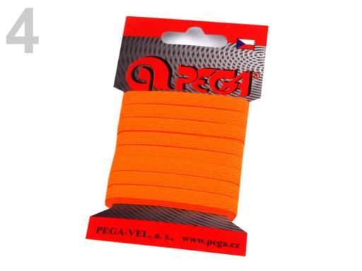 Guma na bielizeň na kartičke šírka 7 mm farebná žltozelená ref. 5kar.