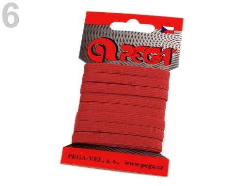Guma na bielizeň na kartičke šírka 7 mm farebná šedá najsv. 5kar.