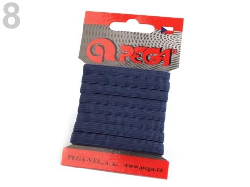 Guma na bielizeň na kartičke šírka 7 mm farebná modrá tyrkys. 5kar.