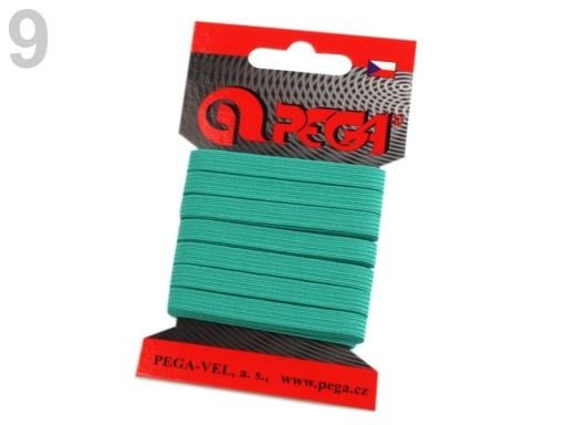 Guma na bielizeň na kartičke šírka 7 mm farebná žihaná tm. 5kar.
