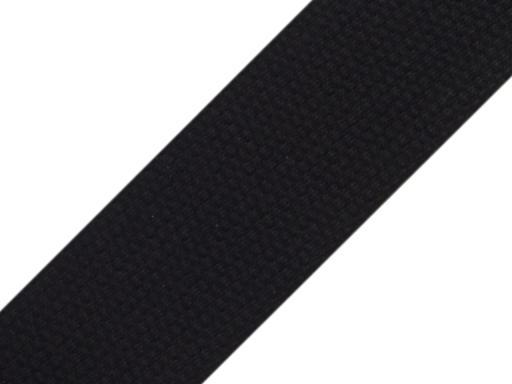 Popruh bavlnený šírka 39mm ČESKÝ VÝROBOK čierny Black 100m
