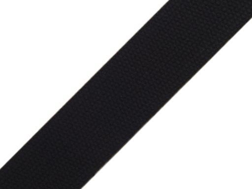 Popruh bavlnený šírka 30mm ČESKÝ VÝROBOK Black 75m
