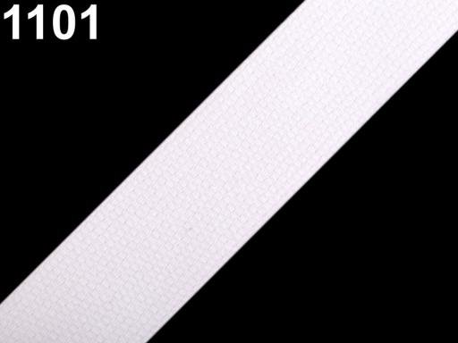 Popruh bavlnený šírka 30mm ČESKÝ VÝROBOK White 75m