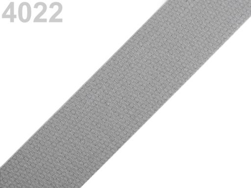 Popruh bavlnený šírka 30mm ČESKÝ VÝROBOK Aluminum 25m