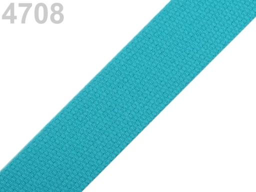 Popruh bavlnený šírka 30mm ČESKÝ VÝROBOK Blue Curacao 25m