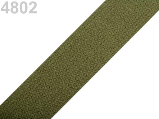 Popruh bavlnený šírka 30mm ČESKÝ VÝROBOK Iguana 25m