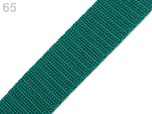 Popruh polypropylénový šírka 20 mm Kelly Green 25m
