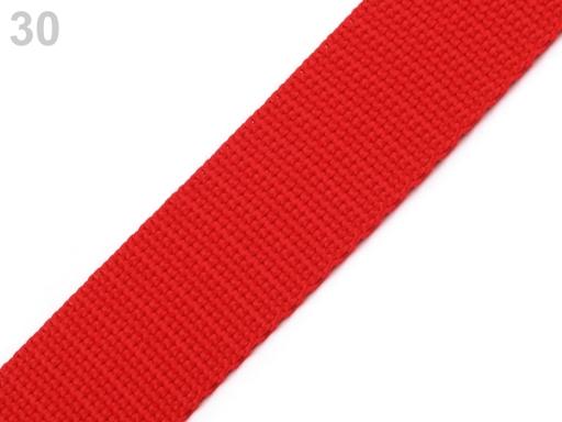 Popruh polypropylénový šírka 20 mm Fiery Red 25m