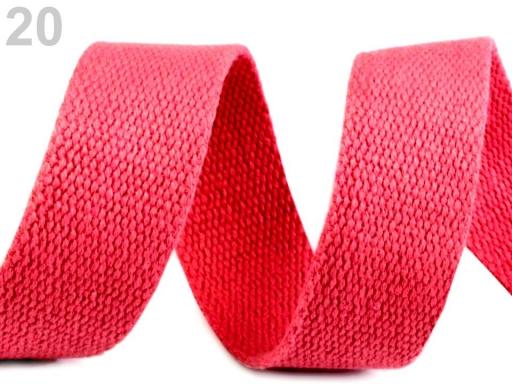 Bavlnený popruh šírka 30 mm farebný Dusty Lavender 25m