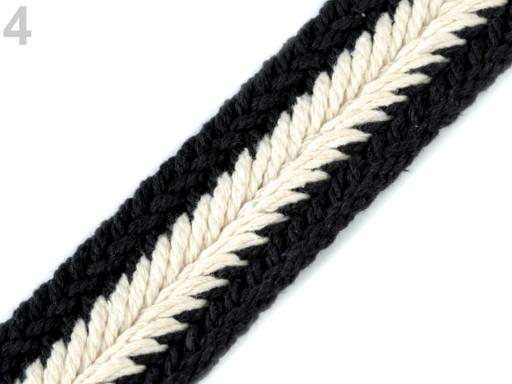 Splietaný popruh na výrobu kabelkových rúčiek šírka 35 mm šedá 1m