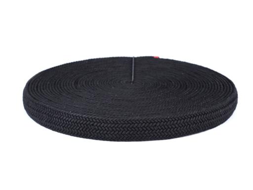 Splietaný popruh na výrobu kabelkových rúčiek šírka 35 mm čierna 1m