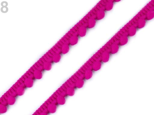 Prámik šírka 11 mm s brmbolcami Ø5 mm čierna 13.5m