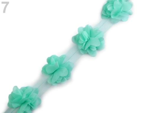Prámik kvet na tyle šírka 60 mm krémová sv. 9m