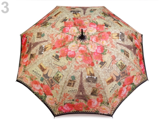 Dámsky vystrelovací dáždnik svetové metropoly ružová str. 1ks