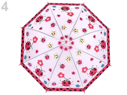Detský dáždnik lienka, motýľ, pirát, princezna, žaba 2. akosť červená 1ks