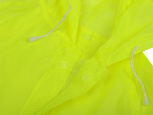 Pláštenka pre dospelých neón žltozelená ref. 1ks