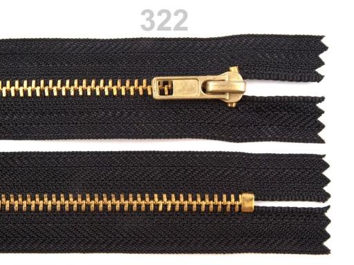 Kovový / mosadzný zips šírka 4 mm dĺžka 18 cm nohavicový High Risk Red 1ks