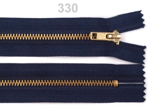 Kovový / mosadzný zips šírka 4 mm dĺžka 18 cm nohavicový Biscotti 1ks