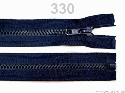 Kostený zips šírka 5 mm dĺžka 30 cm bundový Fern Green 10ks