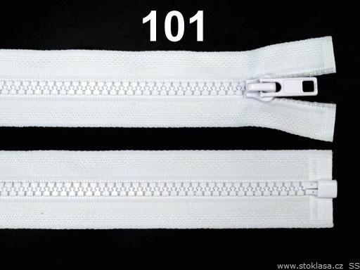 Kostený zips šírka 5 mm dĺžka 30 cm bundový White 10ks
