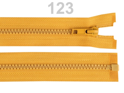 Kostený zips šírka 5 mm dĺžka 30 cm bundový Gossamer Pink 10ks