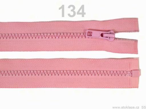 Kostený zips šírka 5 mm dĺžka 30 cm bundový Paradise Pink 10ks