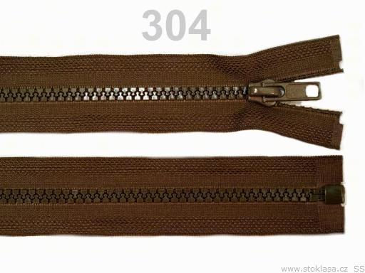 Kostený zips šírka 5 mm dĺžka 35 cm bundový Almond Oil 25ks