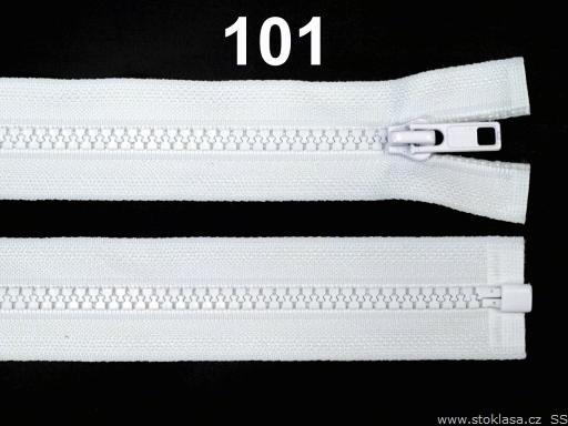 Kostený zips šírka 5 mm dĺžka 35 cm bundový White 10ks