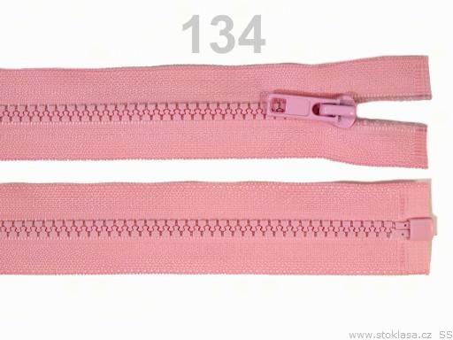 Kostený zips šírka 5 mm dĺžka 35 cm bundový Fandango Pink 10ks
