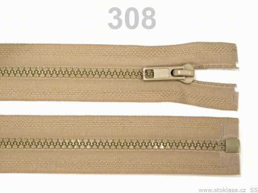 Kostený zips šírka 5 mm dĺžka 40 cm bundový Beech 10ks