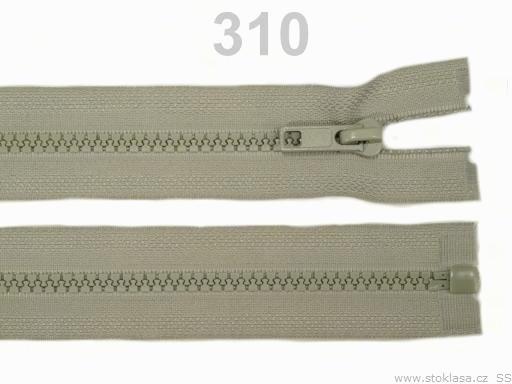 Kostený zips šírka 5 mm dĺžka 40 cm bundový Friar Brown 10ks